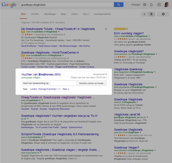 google.nl/flights: goedkope vliegtickets