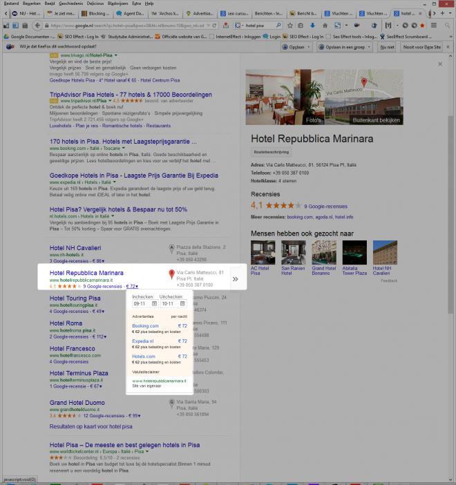 google.nl maps: resultaat
