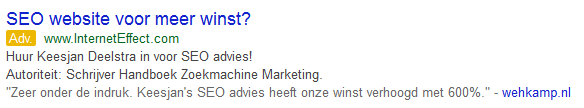 Google Adwords SEO recentie