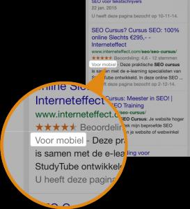 google search label voor mobiel
