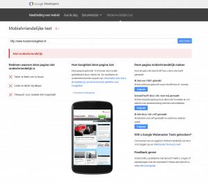 mobiel vriendelijk test Google niet geslaagd