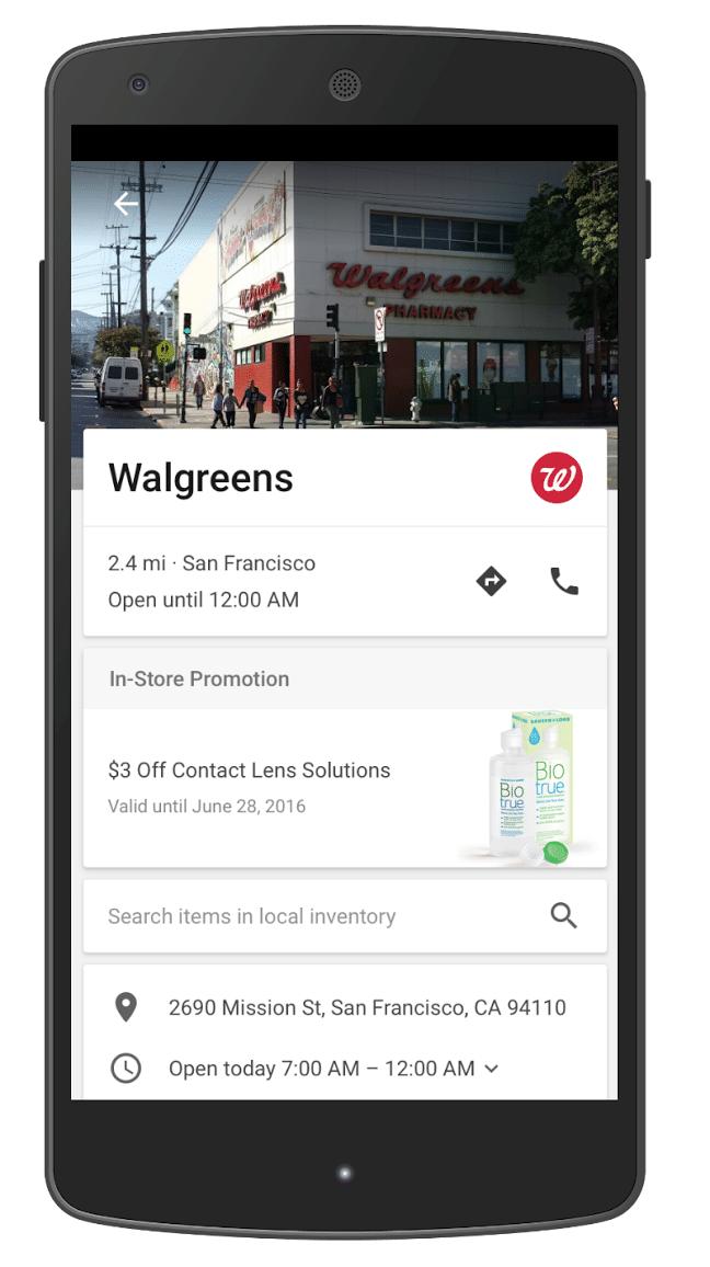 google maps instore promotie voor insights winkelbezoeken