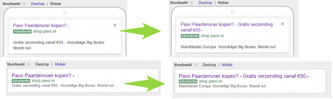 AdWords uitgebreide advertenties